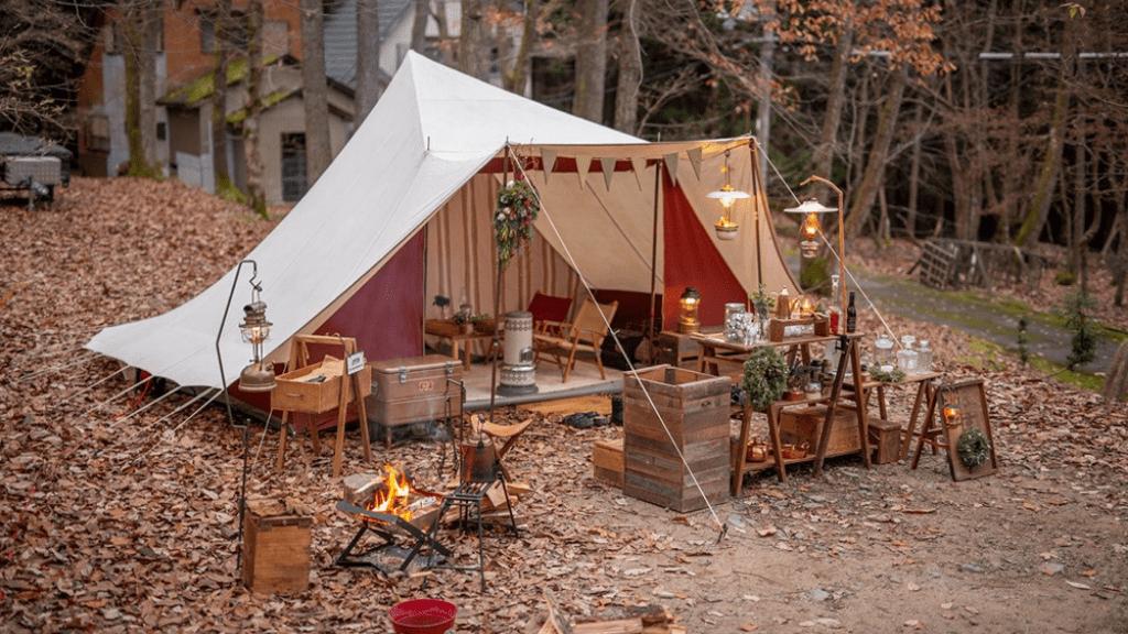 キャンプ流行りのスタイル